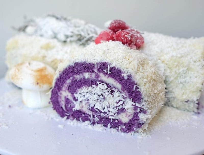 Ube Yule Log