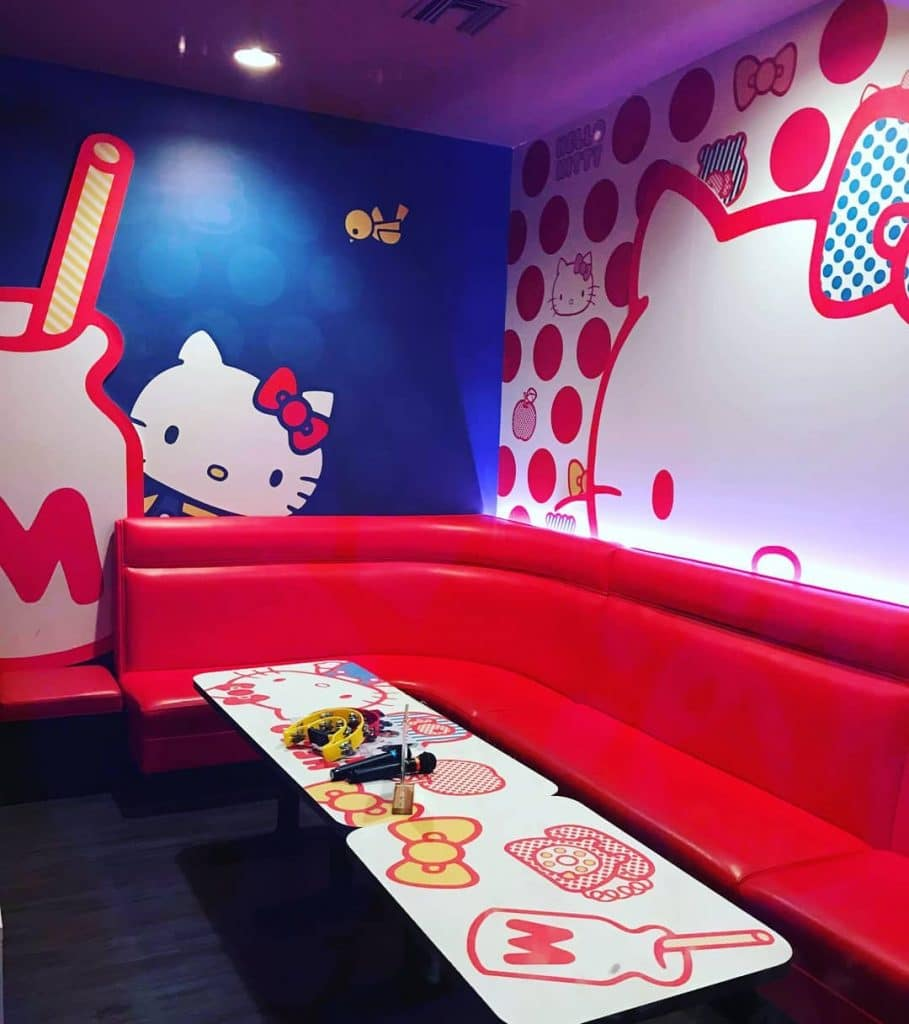 Hello Kitty Is Taking Over A Karaoke Lounge In Alhambra And It S
