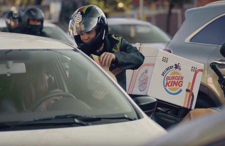 Ditch Gridlock Hunger Thanks To Burger King's New Traffic Jam Delivery Service