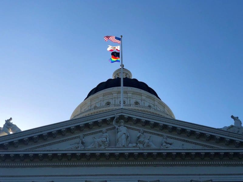 An LGBTQ Pride Flag Is Flying Over The State Capital In Sacramento For The First Time Ever