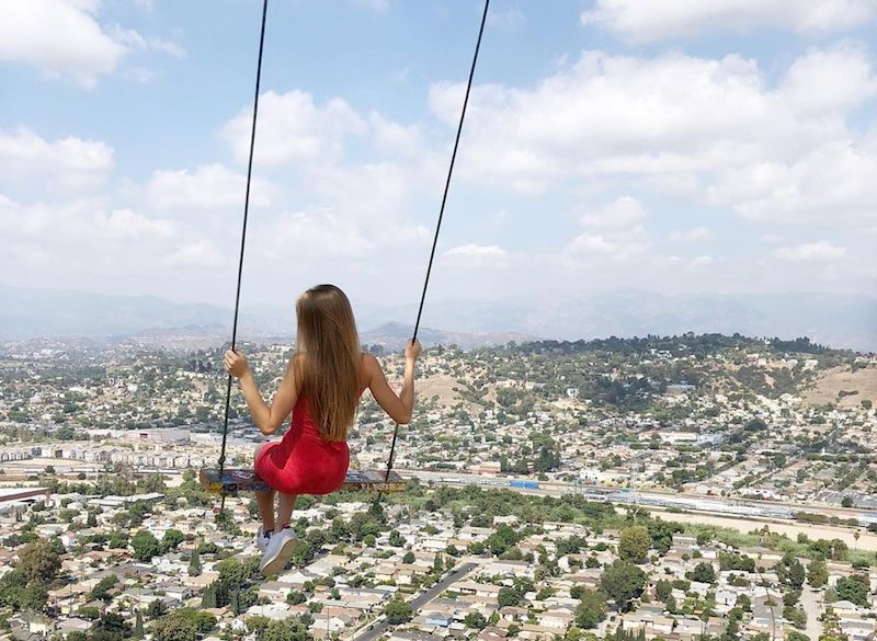 Hike To A Hidden Swing With One Of The Best Views Of Los Angeles • Elysian Park