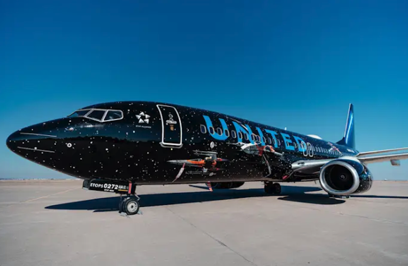 Star Wars Fans Can Try To Catch A Flight On A Decked Out United Airlines Plane