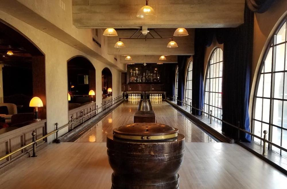 Bowl On Lanes From The Early 1900s Inside Of Hollywood's Vintage Drinking Den • The Spare Room