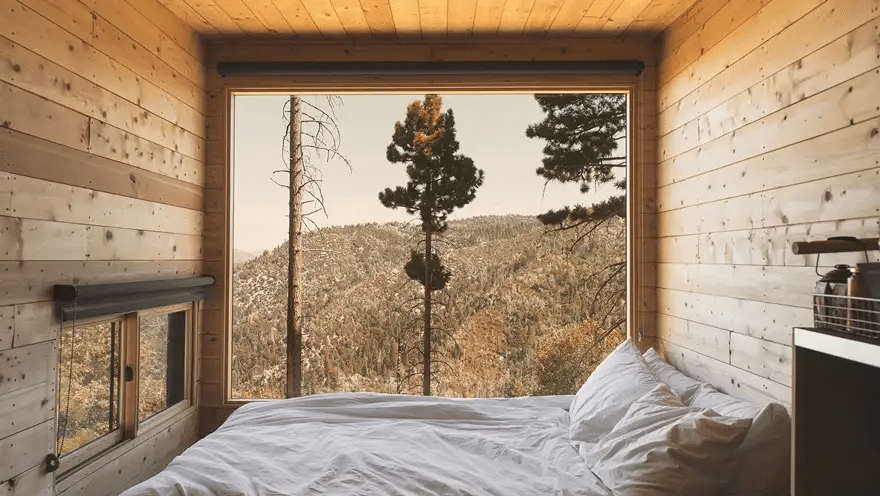 Take A Break From City Life In A Cute, Tiny Cabin Just Outside Of L.A.