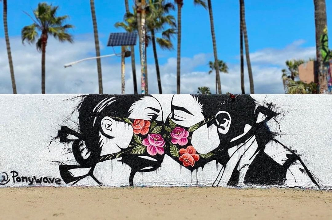 13 Beautiful Murals Inspired By The Coronavirus In L.A.