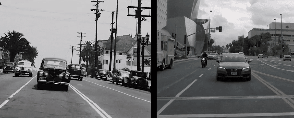Watch This Captivating Side-By-Side Comparison Of L.A. 70 Years Apart