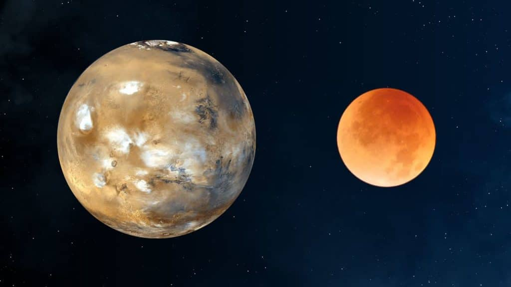 Mars And The Moon Will Both Be Visible In The Sky Tomorrow Morning