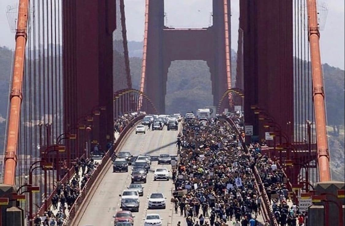 golden gate protest