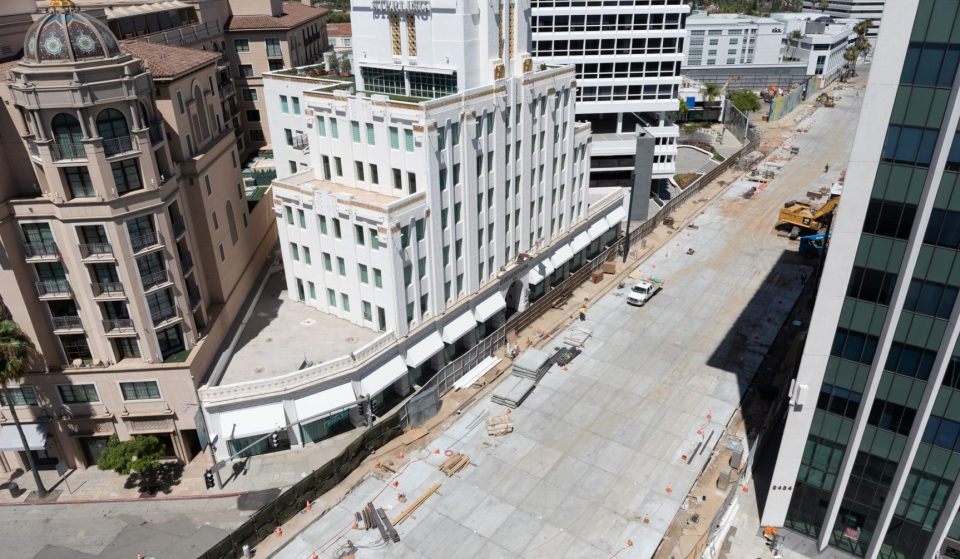 Metro Decking Has Been Completed At Beverly Hills Station Way Ahead Of Schedule