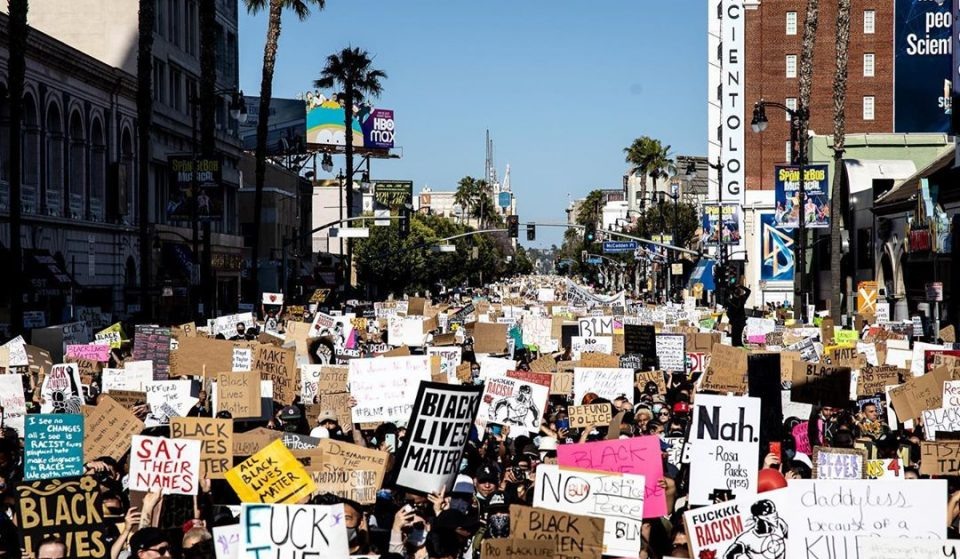 Over 50,000 People Showed Up In Hollywood For L.A.'s Largest Protest Yet